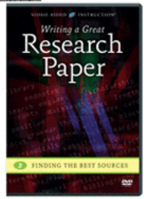 DVD Cover for Writing a great research paper, Vol. 3, Finding the best sources.