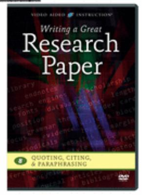 DVD cover for Writing a great research paper, Vol. 8, Quoting, citing & paraphrasing.