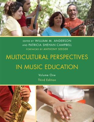 Cover of Multicultural Perspectives in Music Education with 4 color photographs of global music performers from various traditions.