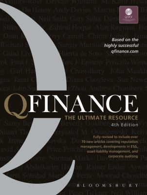 Front cover art for the book QFINANCE :  the ultimate resource by Bloomsbury USA.