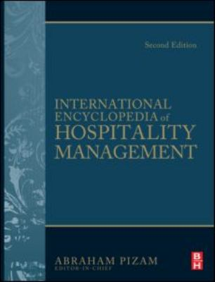 Book jacket for International Encyclopedia of Hospitality Management
