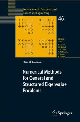 Book Cover: MUnerical Methods for General and Structured Eigenvalue Problems