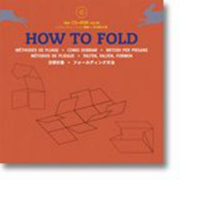 A red book cover with illustrations of folded paper. The title text is blue and white.