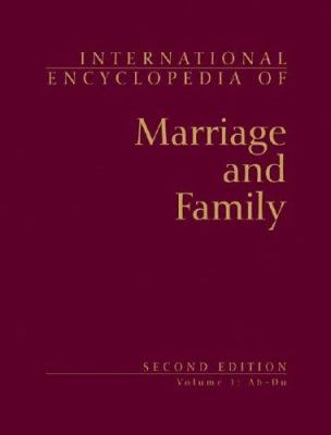 Book jacket for International Encyclopedia of Marriage and Family