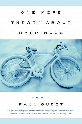 One More Theory about Happiness book cover. A bicycle is laying down, covered in snow.