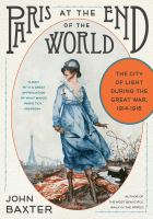 Book cover for Paris at the End of the World