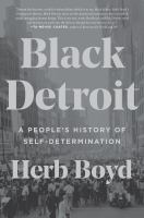 Black Detroit book cover
