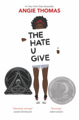 Book cover for The hate u give.