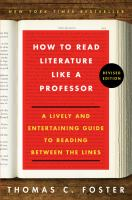 How to read literature like a professor book cover