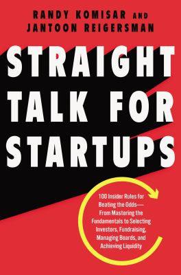 Straight Talk for Startups book cover