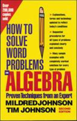 How to Solve Word Problems in Algebra (Cover Art)