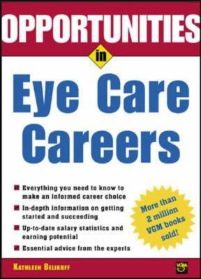 book cover for opportunities in eye care careers