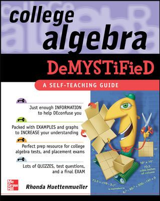 book cover College Algebra Demystified