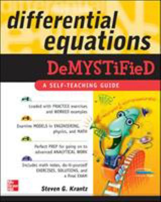 book cover: Differential Equations Demystified