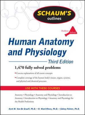 Book cover of Schaum's Outlines : Human Anatomy and Physiology - click to open in a new window