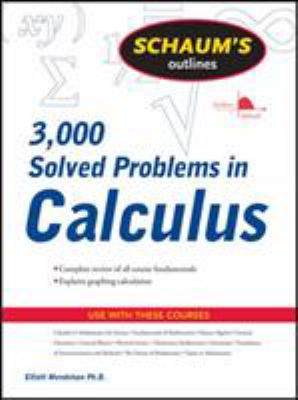 book cover - Schaum's 3,000 Solved Problems in Calculus