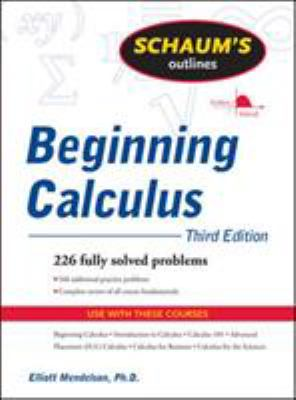 book cover - Schaum's Outline of Beginning Calculus, Third Edition