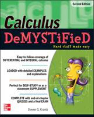 book cover - Calculus DeMYSTiFieD