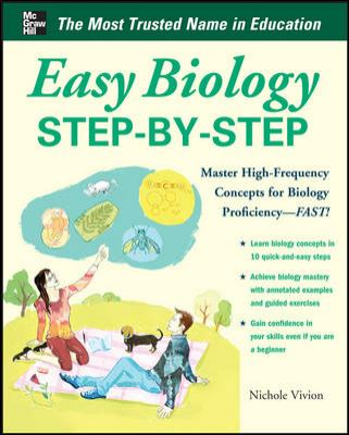 Easy Biology Step-by-Step, cover art.