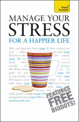 Book cover for Manage your stress for a happier life.