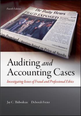 A picture of the front cover of Auditing and Accounting Cases.
