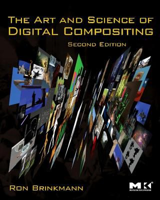 A book cover with a black background and a side-view of layers of computer images. The title text is yellow.