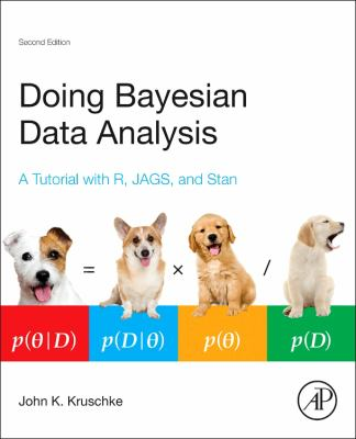 book cover:Doing Bayesian Data Analysis