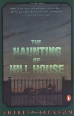 Book cover for The haunting of Hill House.