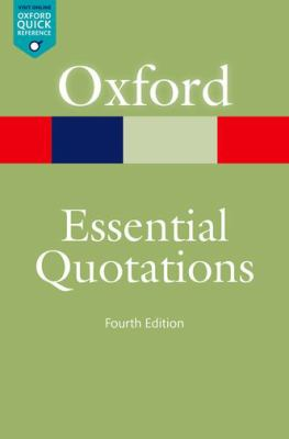 cover of Oxford Essential Quotations. 4th edition.