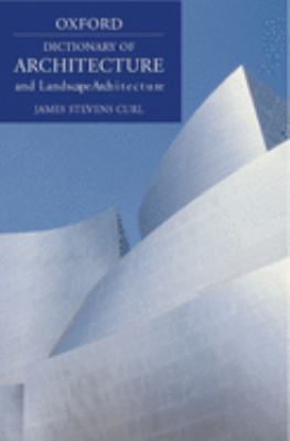 A Dictionary of Architecture and Landscape Architecture Cover Art