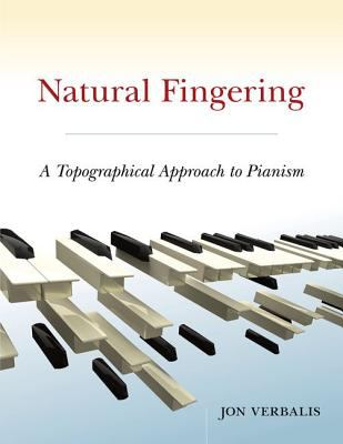 Cover of Natural Fingering with pictures of floating black and white keys against a cream, white, and blue background.