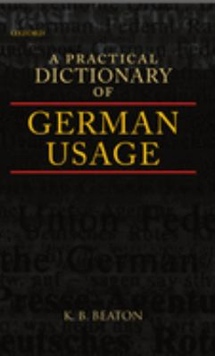 book cover for A Practical Dictionary of German Usage