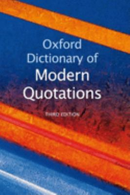 cover of Oxford Dictionary of Modern Quotations. 3rd edition.