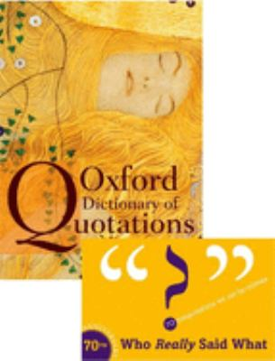 cover of Oxford Dictionary of Quotations. 7th edition.