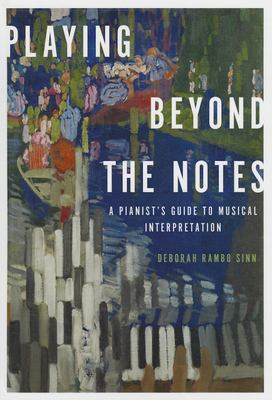 Cover of Playing Beyond the Notes with abstract images of piano players and keys in the background.