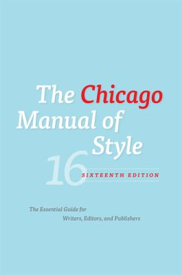 book cover for the chicago manual of style