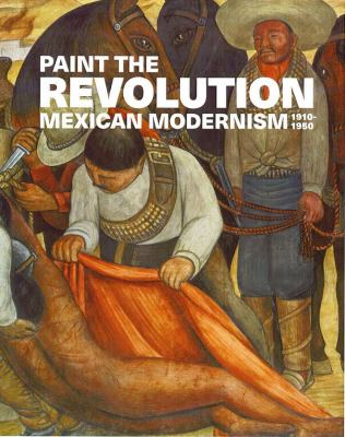 A book cover with a painting of Latin American people. The title text is white.