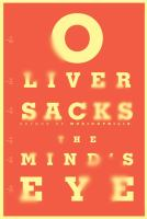 Book cover for The Mind's Eye by Oliver Sacks