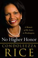 Book cover for No Higher Honor