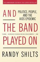 Book cover for And the Band Played On