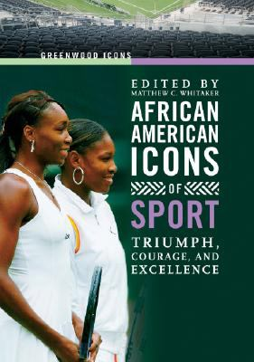 Book cover for African American icons of sport.