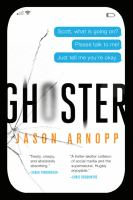 Ghoster by Jason Arnopp (book cover)
