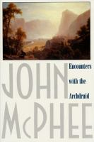 Book cover for Encounters With the Archdruid by John McPhee