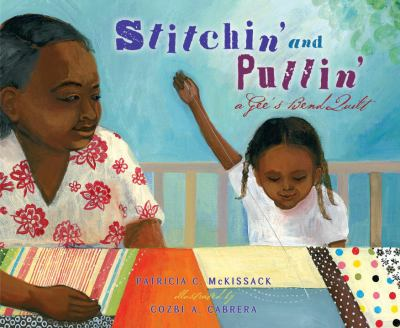Book cover of Stitchin' and pullin' : a Gee's Bend quilt.