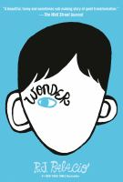 Book cover for Wonder by R.J. Palacio