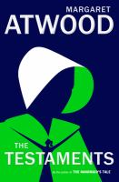 The Testaments by Margarget Atwood (book cover)