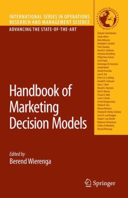 [cover art] Handbook of Marketing Decision Models