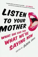 Book cover for Listen to Your Mother
