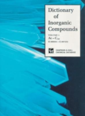 Cover Image: Dictionary of Inorganic Compounds