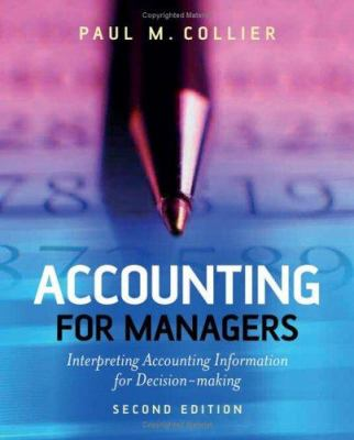 A picture of the front cover of Accounting for Managers.